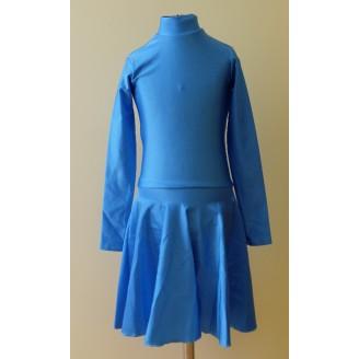 Sportinių šokių bazinė žydra suknelė