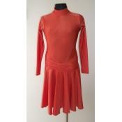 Oranžinė suknelė 134-140 cm