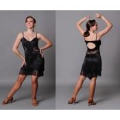 Juoda šokių suknelė su kutais: 158, 170 d.