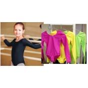 Gimnastikos triko mergaitėms, salotinė spalva, trumpom