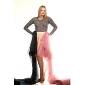 Pasirinktos spalvos tiulio sijonas