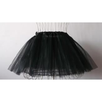 Juodas tutu sijonas repeticijoms
