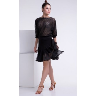Juodas treniruočių sijonas