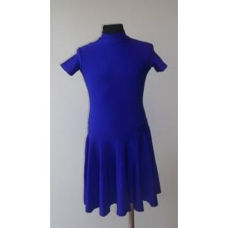 Sportinių šokių bazinė mėlyna suknelė