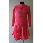 Koralų spalvos suknelė, 134-140 cm