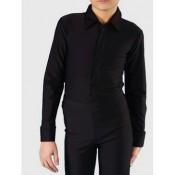 Juodi marškiniai - body (biflex lykra), 128 d.