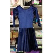 Tamsiai mėlynos spalvos šokių suknelė iš aksomo, 134 d.