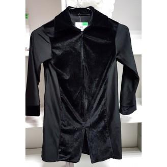 Juodi marškiniai su užtrauktuku