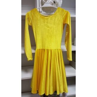Geltona šokių suknelė