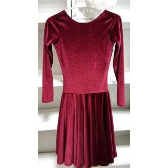 Vyno spalvos šokių suknelė