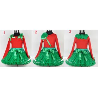 Komplektas Kalėdoms su žaliu sijonu