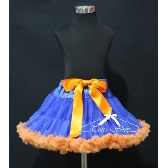 Karališkas mėlynas sijonas su oranžiniu kaspinu
