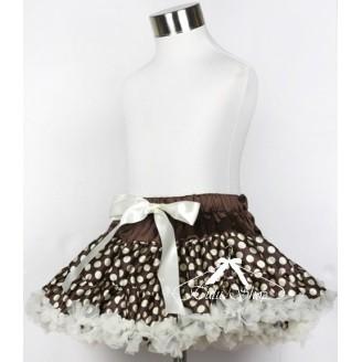 Rudas sijonas si baltais taškeliais