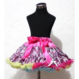 Gėlėtas margas sijonas
