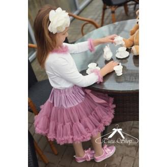 Sendintos rožinės spalvos sijonas, 32 cm