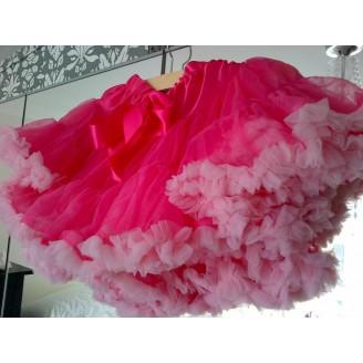 Ryškiai/šviesiai rožinis sijonas pūstukas