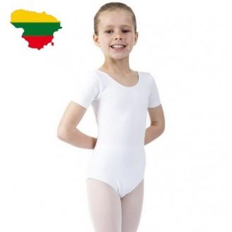 Baltas triko mergaitėms LT gamybos be užsegimo