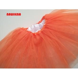Oranžinis/baltas sijonas TUTU 6-jų sluoksnių