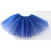 Užsakomasis karnavalinis sijonas baltas / mėlynas, 6 sluoksniai