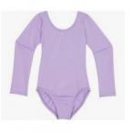 Alyvinis triko mergaitėms gimnastikai, medvilnė, be užsegimo
