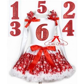 Komplektas Kalėdoms su palaidine ilgom rankovėm