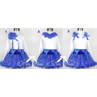 Komplektas mėlynos spalvos su palaidine ilgom rankovėm